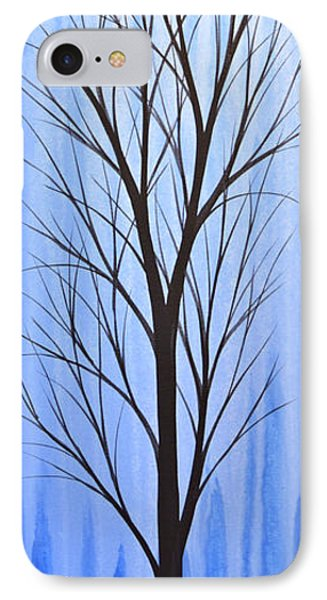 IPhone Case featuring the painting Abstract Landscape Original Trees Art Print Painting ... Twilight Trees #4 by Amy Giacomelli