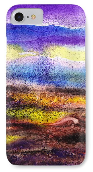 Abstract Landscape Purple Sunrise Yellow Fog IPhone Case