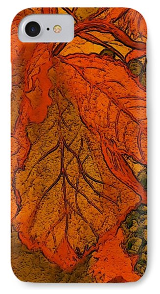 Abstract Leaves And Grapes IPhone Case