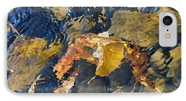 Abstract Leaves In Water Phone Case by Dan Friend