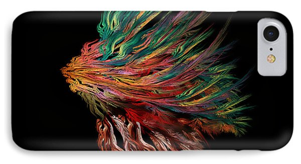 Abstract Lion's Head IPhone Case by Klara Acel