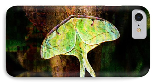 Abstract Luna Moth Painterly Phone Case by Andee Design