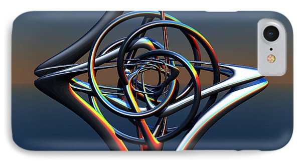IPhone Case featuring the digital art Abstract Metal by Melissa Messick