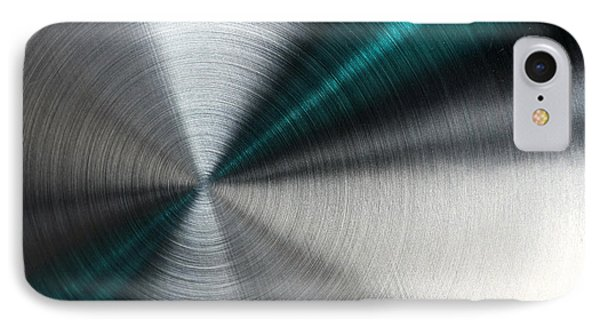 Abstract Metallic Texture With Blue Rays. IPhone Case