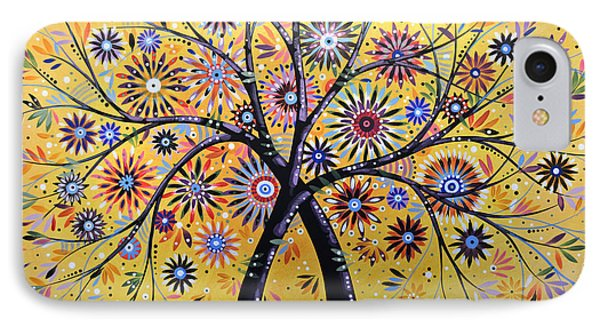Abstract Modern Flowers Garden Art ... Flowering Tree IPhone Case by Amy Giacomelli