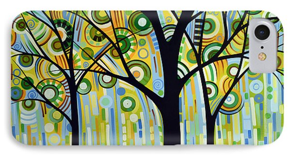 Abstract Modern Tree Landscape Spring Rain By Amy Giacomelli Phone Case by Amy Giacomelli