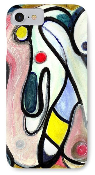 IPhone Case featuring the painting Abstract Mystery by Stephen Lucas