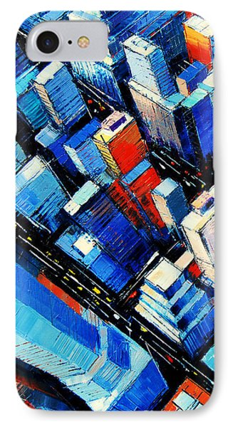 Abstract New York Sky View IPhone 7 Case by Mona Edulesco