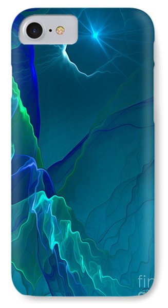 Abstract Night - Digital Art By Giada Rossi IPhone Case by Giada Rossi