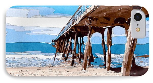 Abstract Ocean Pier Phone Case by Phil Perkins