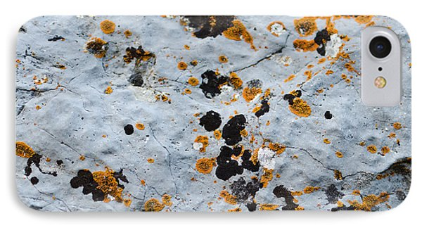 Abstract Orange Lichen 1 IPhone 7 Case by Chase Taylor