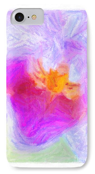 Abstract Orchid Pastel Phone Case by Antony McAulay