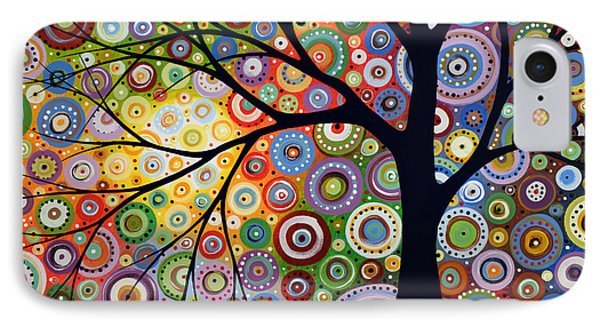 Abstract Original Modern Tree Landscape Visons Of Night By Amy Giacomelli IPhone Case by Amy Giacomelli