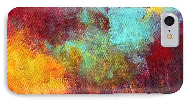 Abstract Original Painting Colorful Vivid Art Colors Of Glory II By Megan Duncanson Phone Case by Megan Duncanson