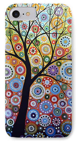 Abstract Original Tree Art Painting ... Sun Arising IPhone Case by Amy Giacomelli
