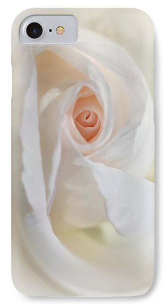 Abstract Pastel Rose Flower Phone Case by Jennie Marie Schell