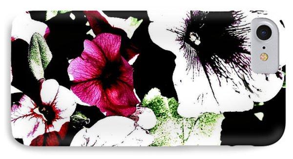 Abstract Petunias IPhone Case by Marsha Heiken