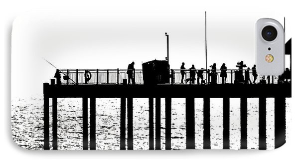 Abstract Pier IPhone Case by David Warrington