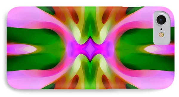 Abstract Pink Tree Symmetry Phone Case by Amy Vangsgard
