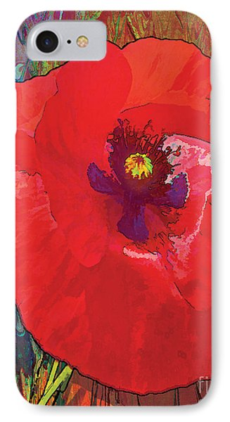 Abstract Poppy A IPhone Case by Grace Pullen