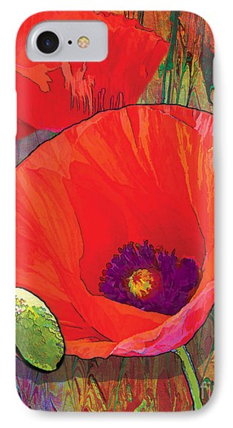 Abstract Poppy B Phone Case by Grace Pullen
