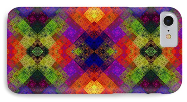 Abstract - Rainbow Connection - Panel - Panorama - Vertical Phone Case by Andee Design