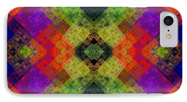 Abstract - Rainbow Connection - Square IPhone Case by Andee Design