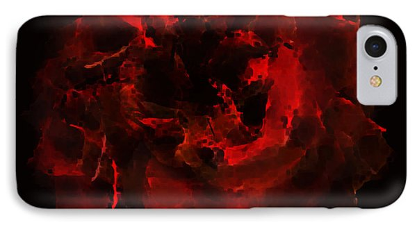 Abstract Red Rose IPhone Case by Georgeta Blanaru
