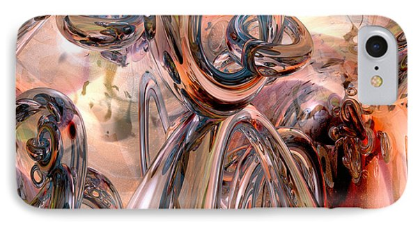 Abstract Reflecting Rings IPhone Case by Phil Perkins