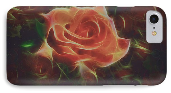 Abstract Rose And Buds Digital Painting IPhone Case by Georgeta Blanaru