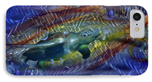 Abstract Sea Turtle 1 Phone Case by Luis  Navarro