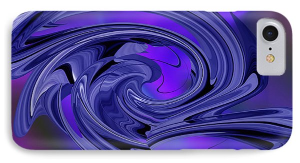 IPhone Case featuring the digital art Abstract - Shades Of Blue by rd Erickson