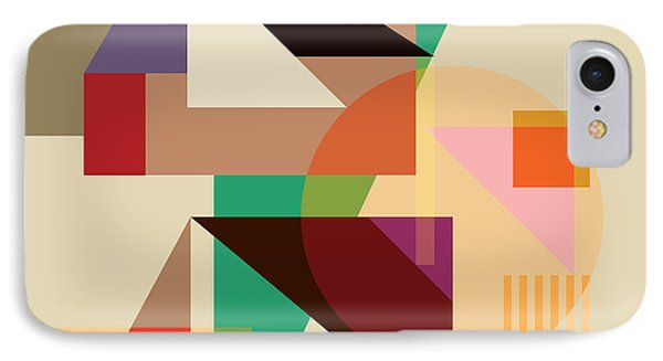 Abstract Shapes #4 IPhone Case by Gary Grayson