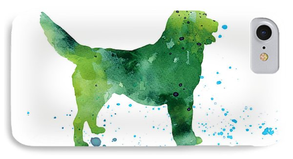 Abstract Siberian Husky Watercolor Art Print Painting IPhone Case by Joanna Szmerdt