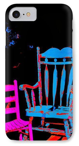 Abstract Sitdown And M IPhone Case by Kathy Barney
