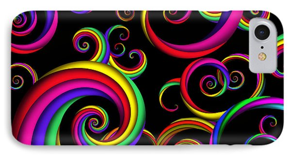 Abstract - Spirals - Inside A Clown Phone Case by Mike Savad