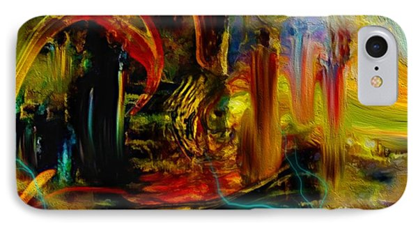 Abstract Stranded Ship IPhone Case by Sherri's Of Palm Springs