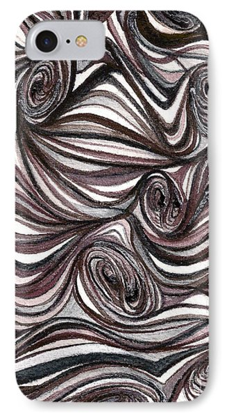 IPhone Case featuring the painting Abstract Swirls  by Nan Wright