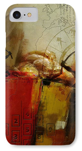Abstract Tarot Art 014 IPhone Case by Corporate Art Task Force