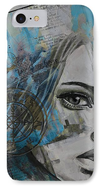 Abstract Tarot Art 022c IPhone Case by Corporate Art Task Force