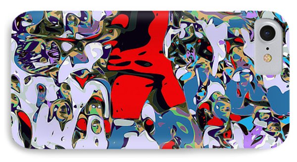 Abstract Tennis IPhone Case by Chris Butler