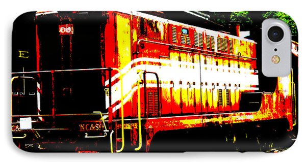 Abstract Train Engine  Phone Case by Mark Moore