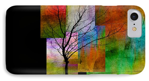 abstract- trees - Color Blocks with Tree Phone Case by Ann Powell