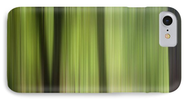 Abstract Trees In The Forest Phone Case by Natalie Kinnear