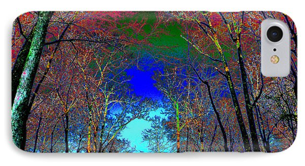 IPhone Case featuring the photograph Abstract Trees by Pete Trenholm