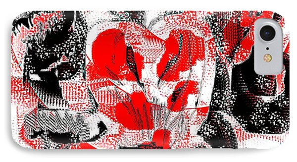 Abstract Valentine IPhone Case by Jessica Wright