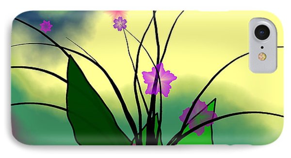 Abstract Violets Phone Case by GuoJun Pan