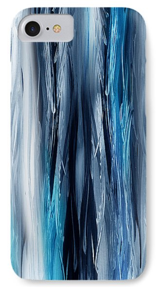 Abstract Waterfall Turquoise Flow IPhone Case by Irina Sztukowski