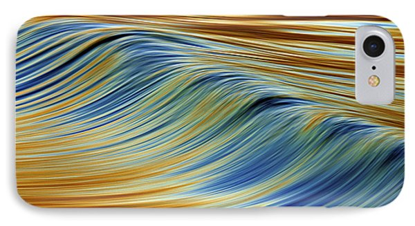 Abstract Wave C6j7857 IPhone Case by David Orias