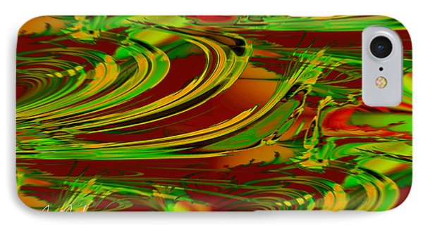 Abstract Waves Phone Case by Michael Rucker